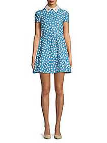 Valentino Studded Star-Print A-Line Dress STAMPA