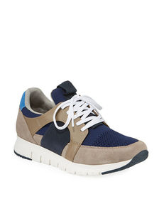 Kenneth Cole Men's Lace-Up Leather Trainer Sneaker