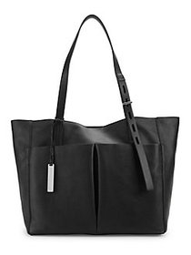 Vince Camuto Miles Leather Tote Bag BLACK