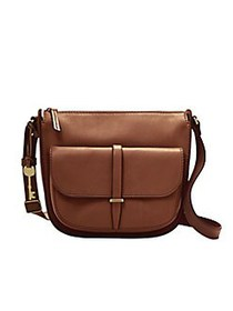 Fossil Ryder Leather Crossbody Bag BROWN