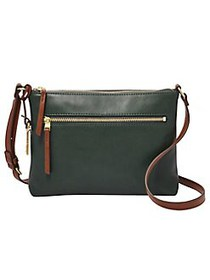 Fossil Fiona Leather Crossbody Bag SPRUCE