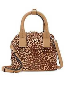 Vince Camuto Kimi Small Leather Satchel LEOPARD