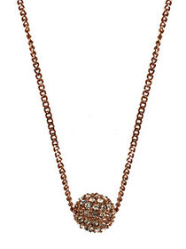 Givenchy Rose Goldplated and Crystal Fireball Neck