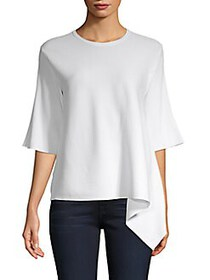 Derek Lam Ribbed Asymmetrical Top BLUSH ROUGE