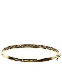 Givenchy 10Kt. Goldplated Brass and Crystal Bangle