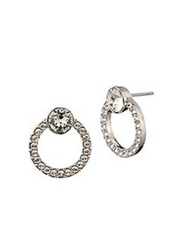 Givenchy Goldplated and Crystal Halo Button Earrin