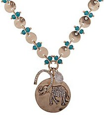 Lonna & Lilly Goldtone and Cubic Zirconia Elephant