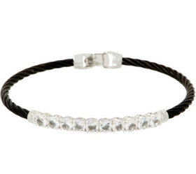 """""""As Is"""" ALOR Cable Stainless Steel & Gemstone Bura"""