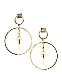 Vince Camuto Goldtone, Glass Stone and Faux Pearl