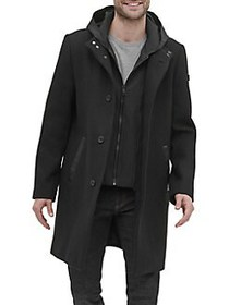 Kenneth Cole New York Button-Front Wool-Blend Jack