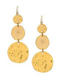 Kenneth Jay Lane Triple Graduating Disc Earrings N