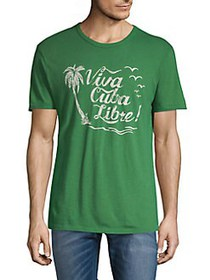 Lucky Brand Graphic Slogan Tee FAIRWAY GREEN