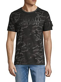 BUFFALO David Bitton Ninon Camo T-Shirt BLACK CAMO