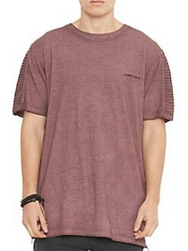 Nana Judy Drift Moto-Sleeve Cotton Tee BURGUNDY