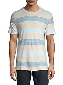 Selected Homme Striped Short Sleeve Tee EGRET