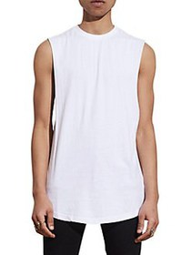 Nana Judy Cut-Off Cotton Tank Top WHITE