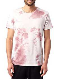 ALTERNATIVE Tie Dye Heritage Cotton Tee WHISKEY RO