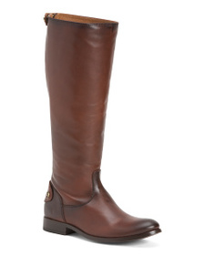 FRYE High Shaft Equestrian Back Zip Leather Boots