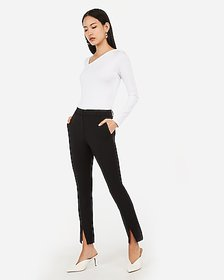Express high waisted front slit cropped skinny pan
