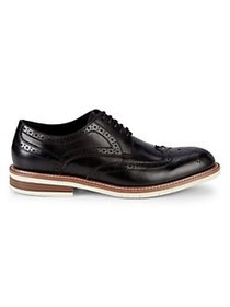 Kenneth Cole REACTION Leather Lace-Up Oxfords BLAC