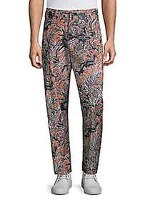 3.1 Phillip Lim Cropped Pleated Printed Pants PALM