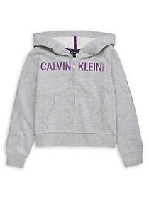 Calvin Klein Girl's Fleece Cotton-Blend Hoodie LIG