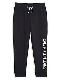 Calvin Klein Girl's Logo Fleece Sweatpants ANTHRAC