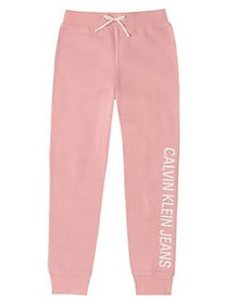 Calvin Klein Girl's Logo Fleece Sweatpants BAZOOKA