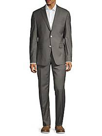Versace Collection Modern-Fit Solid Stretch-Wool S