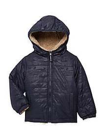 London Fog Little Boy's Reversible Quilted & Faux