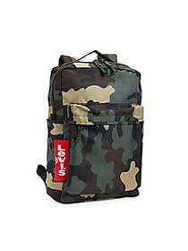 Levi's Boy's Camouflage Logo Backpack KHAKI GREEN