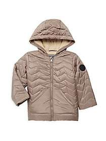 Perry Ellis Baby Boy's Quilted Faux Fur-Lined Hood