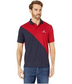 Nautica Navtech Diagonal Pieced Polo