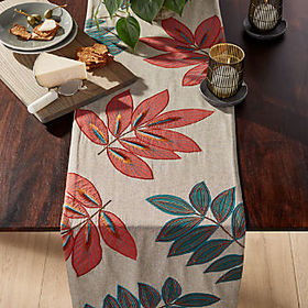 Crate Barrel Isadora Botanical Table Runner