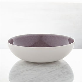 Crate Barrel Jars Tourron Purple Serving Bowl