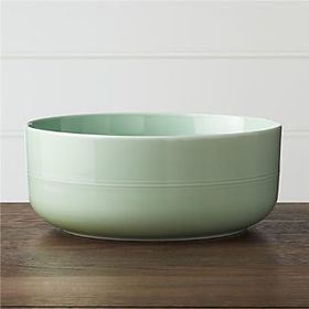 Crate Barrel Hue Green Serving Bowl