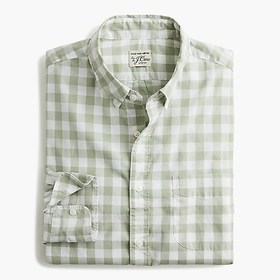 J. Crew Stretch Secret Wash shirt in heathered gin