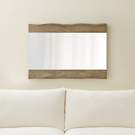 Crate Barrel Yukon Grey Live Edge Wall Mirror