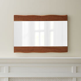 Crate Barrel Yukon Natural Live-Edge Wall Mirror