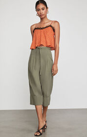 BCBG Cuffed Tie Front Cropped Pant