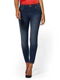 Mid-Rise Essential Super-Skinny Jeans - Blue Honey