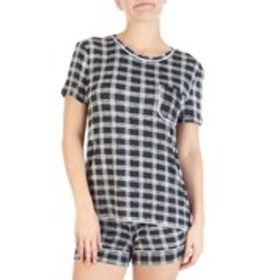JACLYN Heathered & Checkered Pajama Set