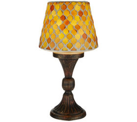 """""""As Is"""" Mosaic Tile Accent Lamp by Valerie - H2186"""