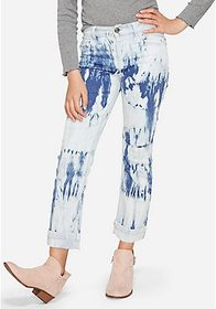 Justice Acid Wash High Rise Straight Ankle Jean