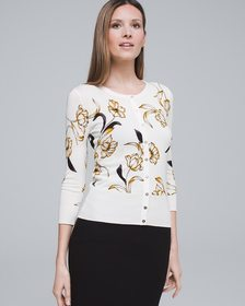Floral Snap-Front Cardigan