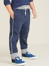Functional-Drawstring Side-Piping Joggers for Todd