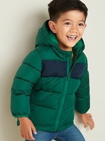 Frost-Free Color-Blocked Puffer Jacket for Toddler