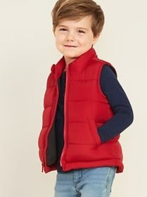 Frost-Free Puffer Vest for Toddler Boys