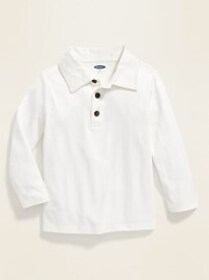 Jersey Long-Sleeve Polo for Toddler Boys