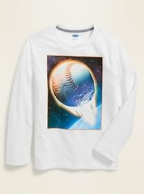 Graphic Long-Sleeve Tee for Boys